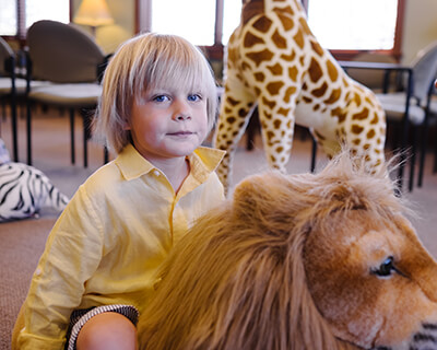 Child on a Lion - Pediatric Dentist in Noblesville, IN